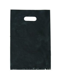 Black low density plastic bag